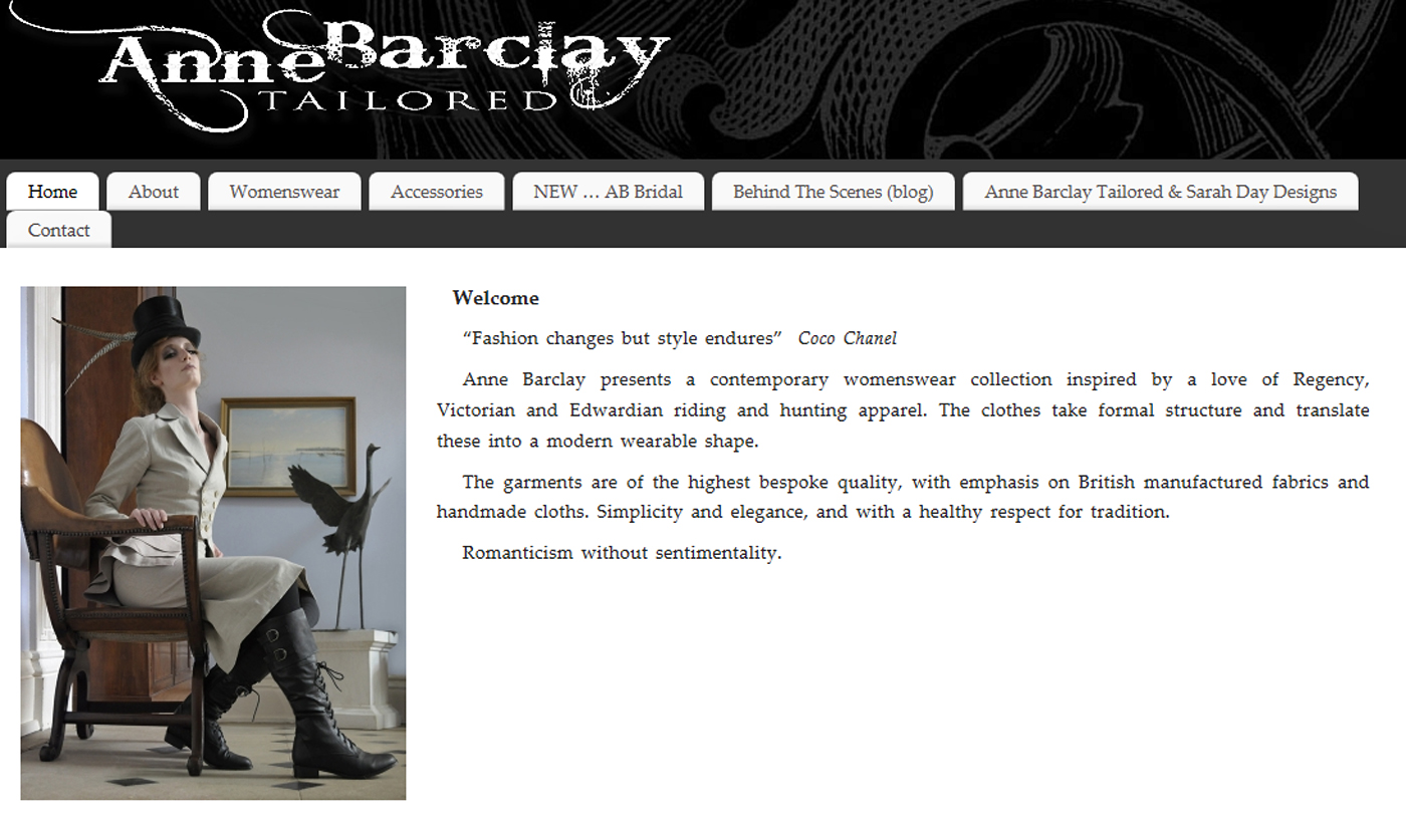 Anne Barclay Tailored - Old Site