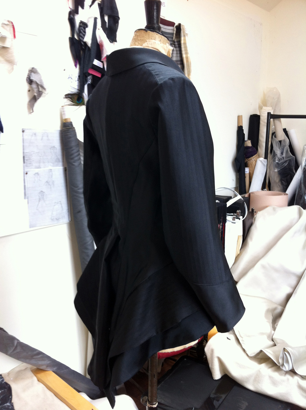 AB Black silk Tailcoat
